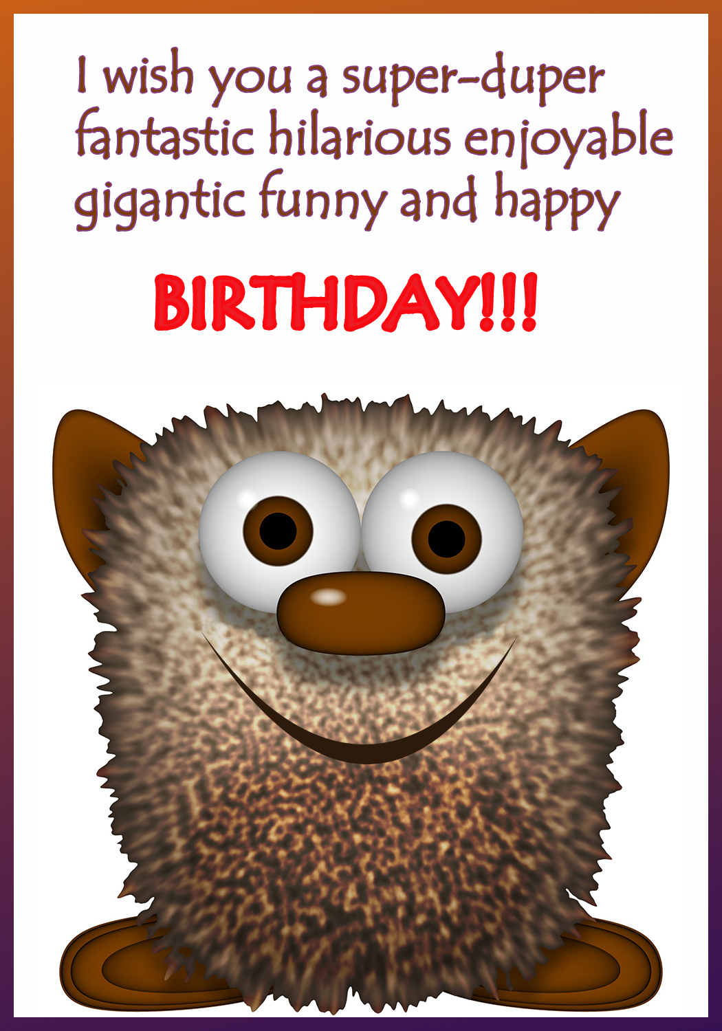 Funny printable birthday cards bookmarktalkfo Image collections